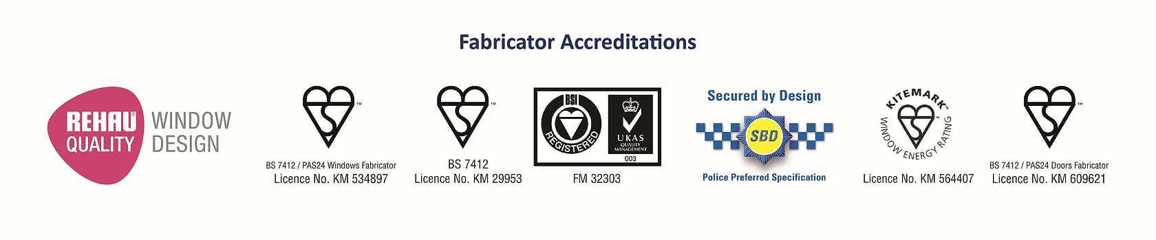 Fabricator accreditations